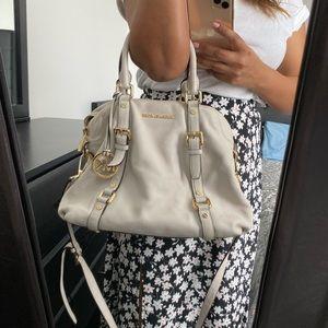 Michael Kors white tote handle bag